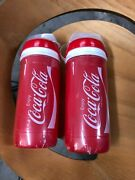 A Pair Of Elite Made In Italy Coca-cola Cycling Water Bottles 550ml