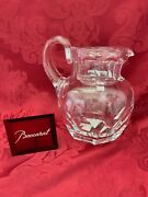 New Flawless Stunning Baccarat France Glass Harcourt 1841 Crystal Pitcher Carafe
