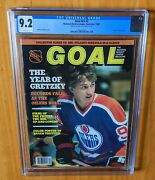 Goal Magazine 1982 Gretzky Fc Newsstand Cgc 9.2 None Higher Will Never Be Beat