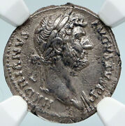 Hadrian Genuine Ancient Rome 119ad Antique Old Roman Coin Victory Ngc I89473