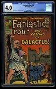Fantastic Four 48 Cgc Vg 4.0 Off White To White 1st Galactus Silver Surfer