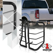 Black Stainless Steel Tail Light/lamp Guard Protector For 05-16 Nissan Frontier