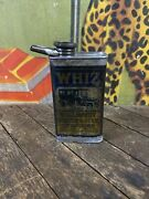 Vintage Hollingshead Whiz Neatsfoot Clutch And Belt Compound Can Tin Oil Sign Car