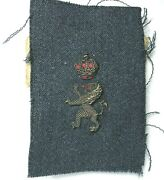 Ww2 Belgian Army Candidate Officer Cloth Bullion Badge