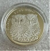 2010 Belarus 20 Rubles Two Eagle Owls- Bubo Bubo Proof Silver Coin