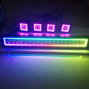 Rgb Halo Chasing Off-road Led Light Bar + 4x 3 Cube Pods Kit Bluetooth/remote