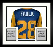 Frmd Marshall Faulk Rams Signed Authentic Jersey And 2000 Nfl Mvp Hof 2011 Inscs
