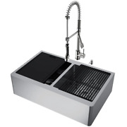 Farmhouse Kitchen Sink 33 In 16 Gauge Oxford Double Bowl Stainless Steel