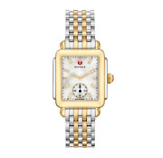 Michele Womenand039s Deco Diamond-two-tone Stainless Steel Watch