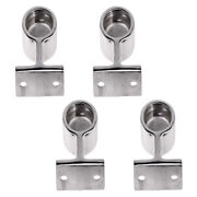 4x Marine Grade Stainless Steel Boat Hand Rail Fitting After Stanchion 25mm