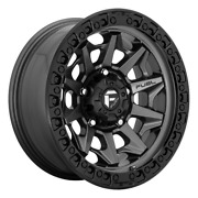 5 17 Inch Gray Black Wheels Rims Fuel Covert D716 17x9 -12 Lifted Jeep Wrangler