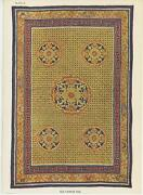 Antique Old Chinese Rug Grains Of Rice Coin Pattern Color Picture Paper Print