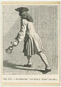 Antique 1882 Man Ring Ringing Bell On 1803 Paper Aceo Old Art Miniature Print