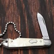Imperial Knife Made In Usa 1946-56 Easy Open Watch Fob Mini Old Vintage Pocket