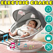 Electric Baby Swing Cradle Bluetooth Music Remote Rocker Bouncer Chair Portable