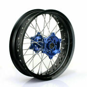 17and039and039x3.5 Supermoto Front Wheel Rim Blue Hub Set For Yamaha Yz250f Yz450f 2014-21