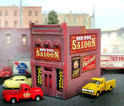 New N Scale Red Dog Saloon Custom Built Up Weathered Structure Dpm Building