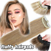 Topper Piece Real Remy Human Hair Clip In Hair Extensions Raise Roof Pad Caramel