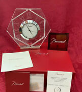Nib New Flawless Exquisite Baccarat France Large Art Glass Abysse Crystal Clock