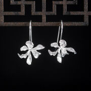 Chinese Exquisite Pretty Flower-de-luce Earrings Ear Stud And Pure Silver S925