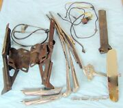 Lot Of Ford 62 63 64 65 Fairlane Parts Mirror Hood Hinges Pedal Wiper Wiring