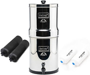 Berkey Royal With 2 Black Filters And 2 Pf-2 Fluoride Filters 3.25 Gal- Silver
