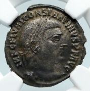 Constantine I The Great 317ad Authentic Ancient Roman Coin W Jupiter Ngc I89487