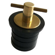 1-1/4 Inch Brass Boat Snap Lock Drain Plug For Marine Coolers And Boat Hull