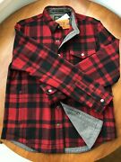 Size L L.l.bean X Todd Snyder Wool Blend Shirt Jacket In Rust Plaid - Sold Out