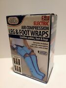 North American Health And Wellness Electric Air Compression Leg And Foot Wraps Nib
