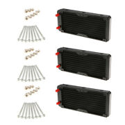 3x Computer Radiator 240mm 10 Pipes Water Cooler Cooling For Cpu Heatsink