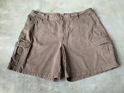 Columbia Omni Shade Chino Cargo Shorts Mens Size 42 Inseam 8 Inches Brown