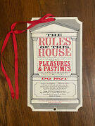 Antique Metal Advertising Signs - The Rules Of This House