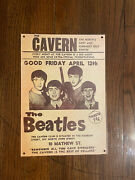 Antique Metal Advertising Signs - The Beatles At The Cavern