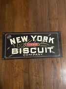 Antique Metal Advertising Signs - Fig Newton New York Biscuit Company
