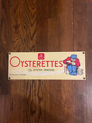 Antique Metal Advertising Signs - Nabisco Oysterettes