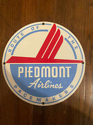 Antique Metal Advertising Signs - Piedmont Airlines