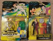 1995 Kenner Batman Forever Deluxe Talking Riddler And Two- Face Action Figures