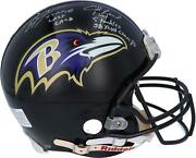Ray Lewis And Ed Reed Ravens Signed Sb Xlvii Logo Authentic Helmet And Inscs - Le 20
