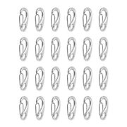 24x Steel 50mm Spring Gate Snap Hook For Dog Leash Carabiner Outdoor Silver