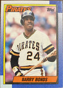 1990 Topps Barry Bonds 358 Error Andres Thomas Back And Stats