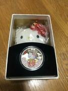 Hello Kitty 40th Anniversary 1 Oz Silver Coin And Doll
