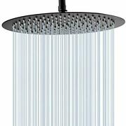Ggstudy 12 Inches Round Rain Shower Head Large Stainless Steel High Pressure Sho