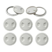 8pcs Marine Boat Rv White 5 Access Hatch Cover Twist Out Deck Plate Screws