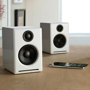🔈🎶 Audioengine A2+ Wireless Speaker System With Bluetooth White New 🎵🔈