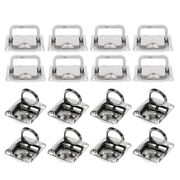 16-pack Stainless Steel Boat Deck Hatch Flush Ring Pull 43x36mm / 75x55mm