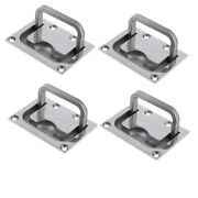 4pcs Marine Stainless Steel Flush Pull Handle Boat Hatch Lift Ring 76 X 56mm