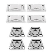 8-pack Stainless Steel Boat Deck Hatch Flush Ring Pull 43x36mm / 75x55mm