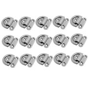 15x Small Folding Pad Eye Deck Lashing Ring Staple Cleat For Trailer Boat