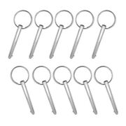 10x Stainless Steel Boat Bimini Top Deck Hinge Quick Release Ball Pin 5/16
